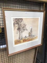 Sale 8811 - Lot 2049 - John Caldwell (1942-) - Landcape, mixed media, 32 x 37cm, signed lower right