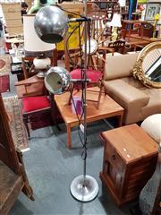 Sale 8822 - Lot 1132 - Chrome Twin Shade Floor Lamp