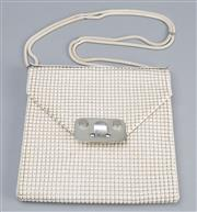 Sale 8541A - Lot 97 - A vintage Glomesh beige shoulder bag, in great condition, W 23cm