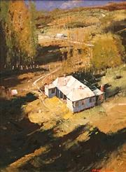 Sale 8597 - Lot 509 - Colin Parker (1941 - ) - Afternoon in Autumn, Hunter Valley 36.5 x 27cm