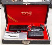Sale 8644A - Lot 49 - A Minolta-16mg 20mm miniature camera with accessories in cased box.