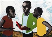 Sale 8722 - Lot 574 - Fiona White (1964 - ) - The Red Box 105 x 150cm