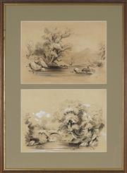 Sale 8867 - Lot 556 - Louis Buvelot (1814 - 1888) - Yarra River, 1885 29 x 40 cm, each