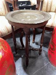 Sale 8896 - Lot 1075 - Brass Top Side Table