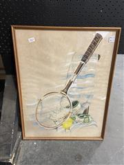 Sale 8936 - Lot 2065 - Zizi Tennis Life 1985 watercolour and gouache, 58 x 45cm, signed