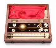 Sale 9078 - Lot 154 - A Late 19th Century Mahogany Cased Sykes Hydrometer, L: 20cm