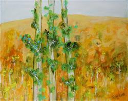 Sale 9093A - Lot 5034 - Terry Watts (1934 - ) - Saplings in Landscape 50 x 60 cm (frame: 68 x 80 x 3 cm)