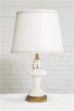 Sale 9146 - Lot 1055 - Ceramic table lamp[ (h:71cm)