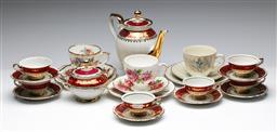 Sale 9173 - Lot 29 - A Barvarian part tea service together with three trios inc Salisbury