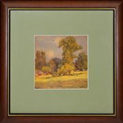 Sale 8344 - Lot 598 - Harold Septimus Power (1878 - 1951) - Landscape 23 x 23cm