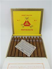 Sale 8423 - Lot 629 - 10x Montecristo No.2 Cigars, Cuba - in original wood box marked MAY 15