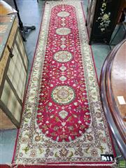 Sale 8580 - Lot 1091 - Pink Tone Hall Runner