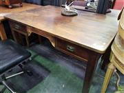 Sale 8601 - Lot 1154 - Oak Desk with 2 Drawers