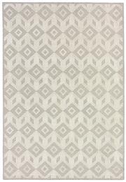 Sale 8651C - Lot 89 - Colorscope Collection; Flatweave Machine Made Wool/Chenille Geo - Grey/White Rug, Origin: Belgium, Size: 160 x 230cm, RRP: $499