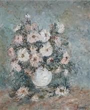 Sale 8892 - Lot 502 - Doreen Gadsby (1926 - 2016) - Still Life (Flowers) 55 x 44.5 cm