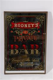 Sale 9007 - Lot 45 - Rodneys Private Bar Mirror (46cm x 31cm)