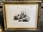Sale 9011 - Lot 2041 - S. Setter The Fassickus, 1989 hand printed stone lithograph, ed 2/12, frame: 41 x 33 cm, signed and dated lower right,