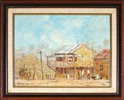 Sale 9028 - Lot 2044 - James Thomson (1937 - ) - Tilba Tilba, NSW 29.5 x 39.5 cm (frame: 42 x 51 x 3 cm)