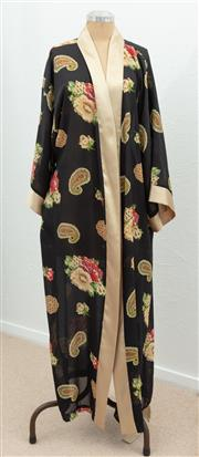 Sale 9066H - Lot 93 - A Silk Kimono with gold sleeves and ties