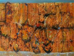 Sale 9093A - Lot 5014 - Terry Watts (1934 - ) - Kimberley Gorge 45 x 60 cm (frame: 70 x 82 x 3 cm)