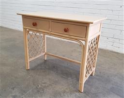 Sale 9137 - Lot 1077 - Painted cane desk (h:75 x w:94 x d:44cm)