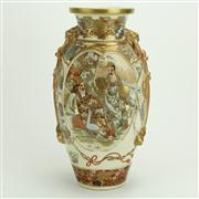 Sale 8393B - Lot 80 - Satsuma Vase with Lion Handles