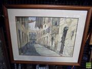 Sale 8410T - Lot 2057 - Philip Sharpe (XX) - European Townscape 34 x 49.5cm