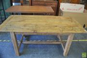 Sale 8418 - Lot 1071 - Recycled Provincial Farmhouse Table (L 184cm)