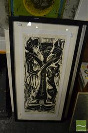Sale 8458 - Lot 2075 - A group of (4) original Linocuts by Dorothy Juknaitis (each signed, various sizes, framed (2 mounted/unframed))