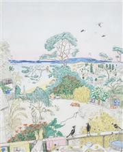 Sale 8510 - Lot 575 - Peter Kingston (1943 - ) - Palm Beach, 1986 54 x 47cm