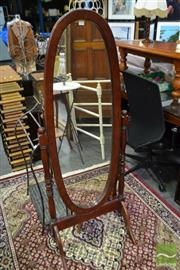 Sale 8507 - Lot 1068 - Timber Cheval Mirror