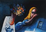 Sale 8896A - Lot 5067 - Charles Blackman (1928 - ) - Dreaming Alice 28.5 x 42 cm (image), 52 x 64 cm (frame)