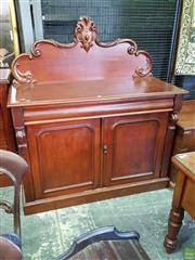 Sale 8617 - Lot 1051 - Late 19th Century Cedar Chiffonier, with later carved back, frieze drawer & two panel doors
