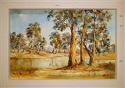 Sale 8659 - Lot 2016 - Artist Unknown - The Billabong oil on board,  48 x 68cm (frame), signed lower right