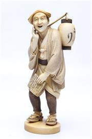 Sale 8710 - Lot 9 - Meiji Period Ivory Figure