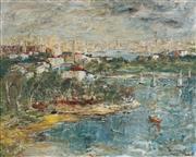 Sale 8764 - Lot 534 - George Feather Lawrence (1901 - 1981) - Distant City 60 x 75.5cm60 x 75.5cm