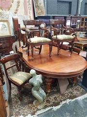 Sale 8831 - Lot 1003 - Victorian Mahogany Dining Suite Comprising of an Extending Dining Table with Four Leaves and 8 Chairs inc Two Carvers (Winder in Off...