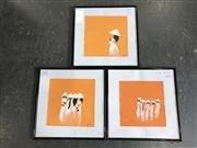 Sale 8964 - Lot 2062 - Set of (3) Contemporary Vietnamese Paintings of Women, acrylic, 31 x 31cm (frames)