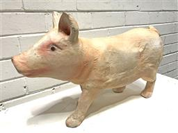 Sale 9108 - Lot 1091 - Paper mache figure of a pig (h:36 w:51cm)
