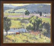 Sale 8297 - Lot 579 - Garrett Kingsley (1915 - 1982) - Country Landscape 48.5 x 58.5cm