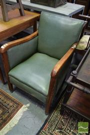 Sale 8542 - Lot 1095 - Timber Framed Leather Upholstered Armchair