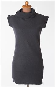 Sale 8550F - Lot 42 - A Hugo Boss wool blend sleeveless dark grey jumper-dress with turtle neck, size M.