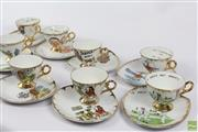 Sale 8599 - Lot 14 - Novelty Sandwich Cup And Saucers (8)
