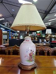 Sale 8601 - Lot 1171 - Chinese Crackle Glaze table Lamp