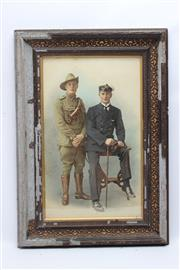 Sale 8733 - Lot 100 - Australian Chromolithograph Military Portraits