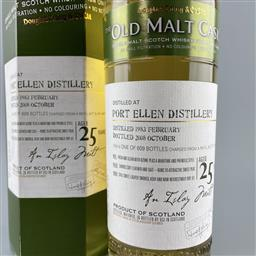 Sale 9142W - Lot 1037 - 1983 Port Ellen Distillery 25YO Single Malt Scotch Whisky - bottled by Douglas Laing & Co. The Old Malt Cask, distilled 02/1983, b...