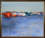 Sale 8325 - Lot 507 - Frederick Bates (1918 - ) - Coloured Line-up 68 x 83cm