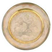 Sale 8356 - Lot 30 - English Hallmarked Sterling Silver Elizabeth II Sydney Opera House Commemorative Plate