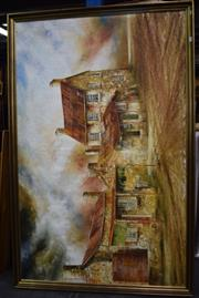 Sale 8374 - Lot 577 - Maynard Waters (1936 - ) - Goulburn Houses 109 x 173.5cm