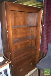 Sale 8390 - Lot 1287 - Concave Fronted Bookcase with Drawer
